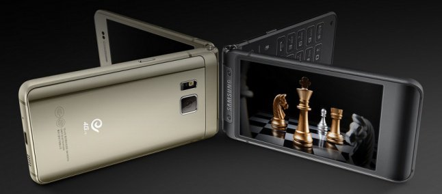 Samsung W2017 สีดำ และสีทอง
