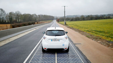 Solar Cell Road in France