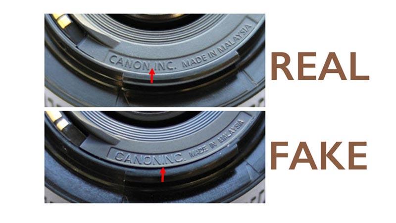 Canon 50mm f/1.8 ปลอม