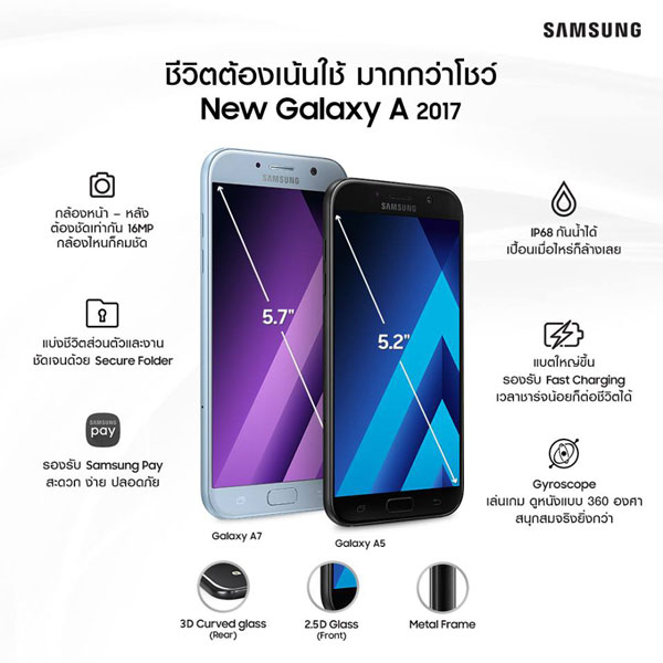 Samsung Galaxy A 2017 features