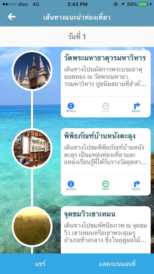 Thailand Tourism Map