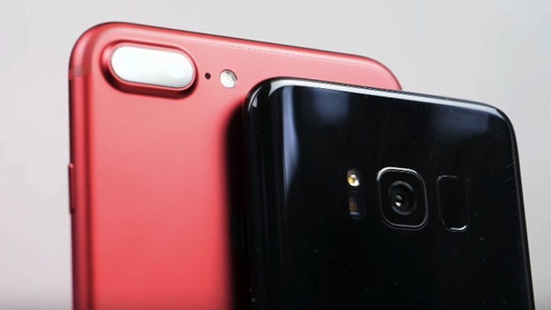 Samsung Galaxy S8 vs iPhone 7+ เปรียบเทียบกล้อง