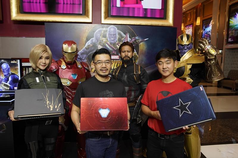 เอเซอร์จับมือมาร์เวล จับ 3 คาแร็คเตอร์เด็ดจาก Avengers: Infinity Warเปิดตัว Acer - Marvel's Avengers Infinity War Limited Edition