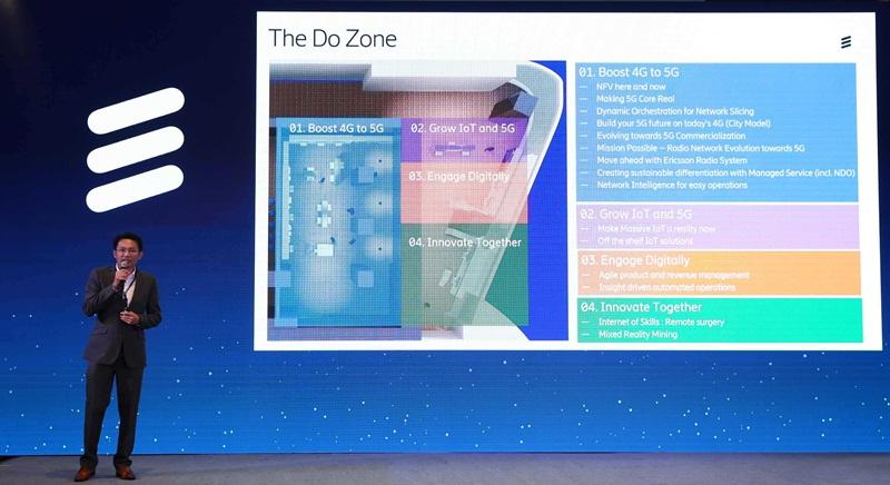 คุณวุฒิชัย วุฒิอุดมเลิศ หัวหน้างานฝ่ายเน็ตเวิร์ค โซลูชั่น บริษัท อีริคสัน (ประเทศไทย) แนะนำเทคโนโลยีและนวัตกรรม ในงาน Do Zone