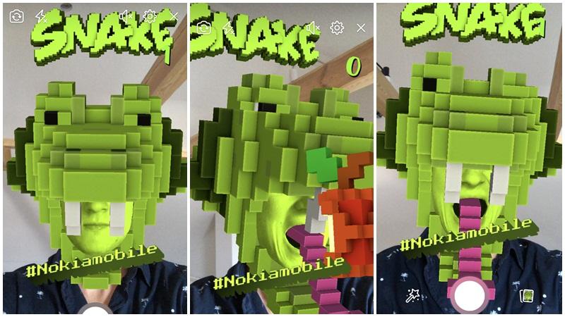 โนเกียส่ง เกมงู เวอร์ชั่นใหม่ เล่นบนแพลตฟอร์มกล้อง AR ตัวใหม่ของ Facebook